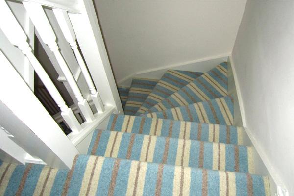 Modern Stripe Carpet Stairs