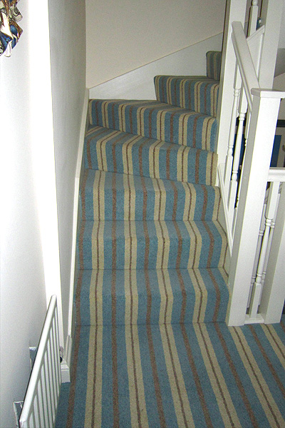 En Trend Modern Neopolitan Stripe Carpet Fitted In Arundel