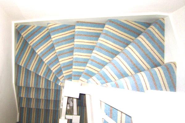 En Trend Modern Neopolitan Stripe Carpet Fitted In Arundel